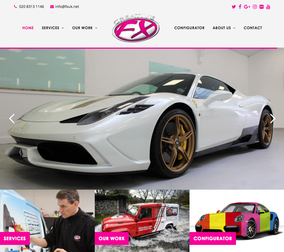 Creative FX - Car websites in bromley and croydon