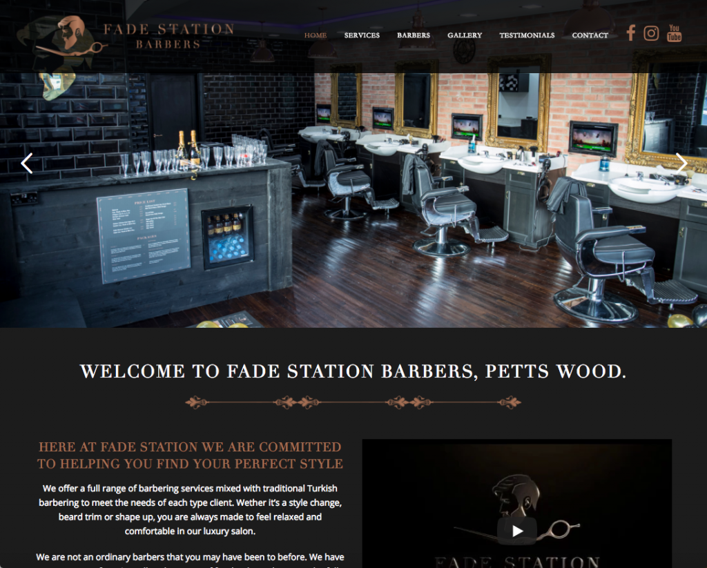 Fade Station - Barber websites in bromley and croydon