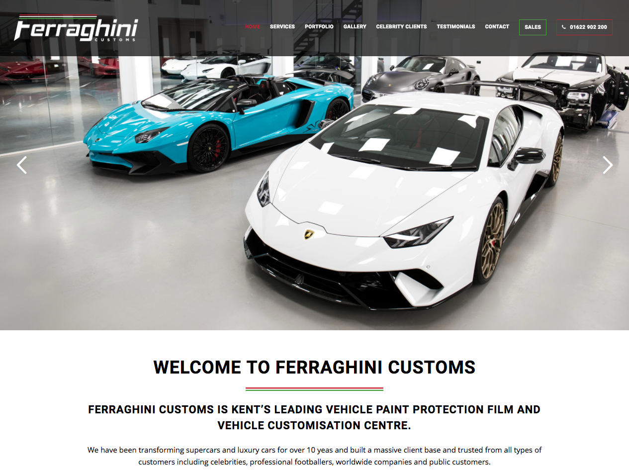 Ferraghini Customs - Car websites in bromley and croydon