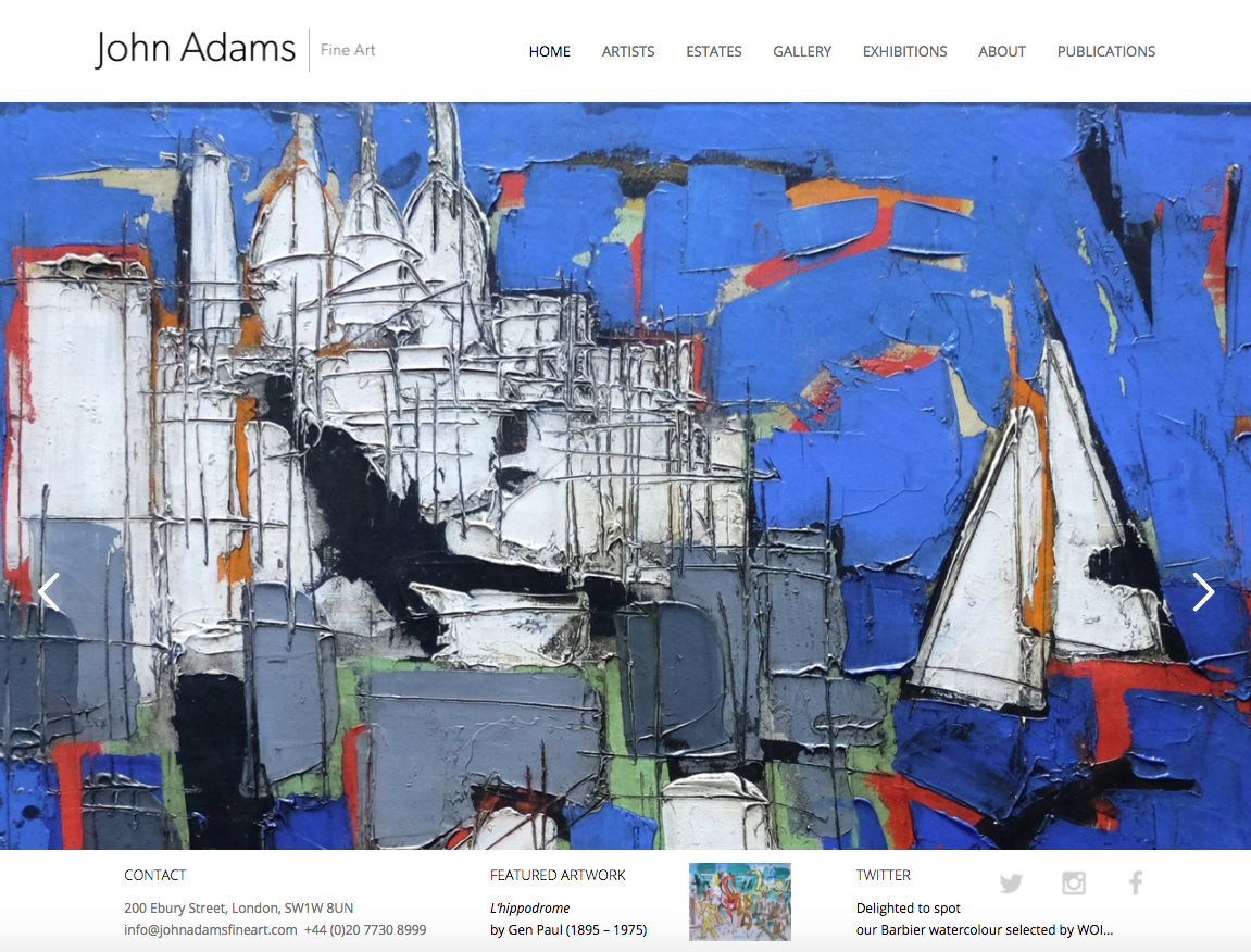 John Adams - Gallery websites in bromley and croydon