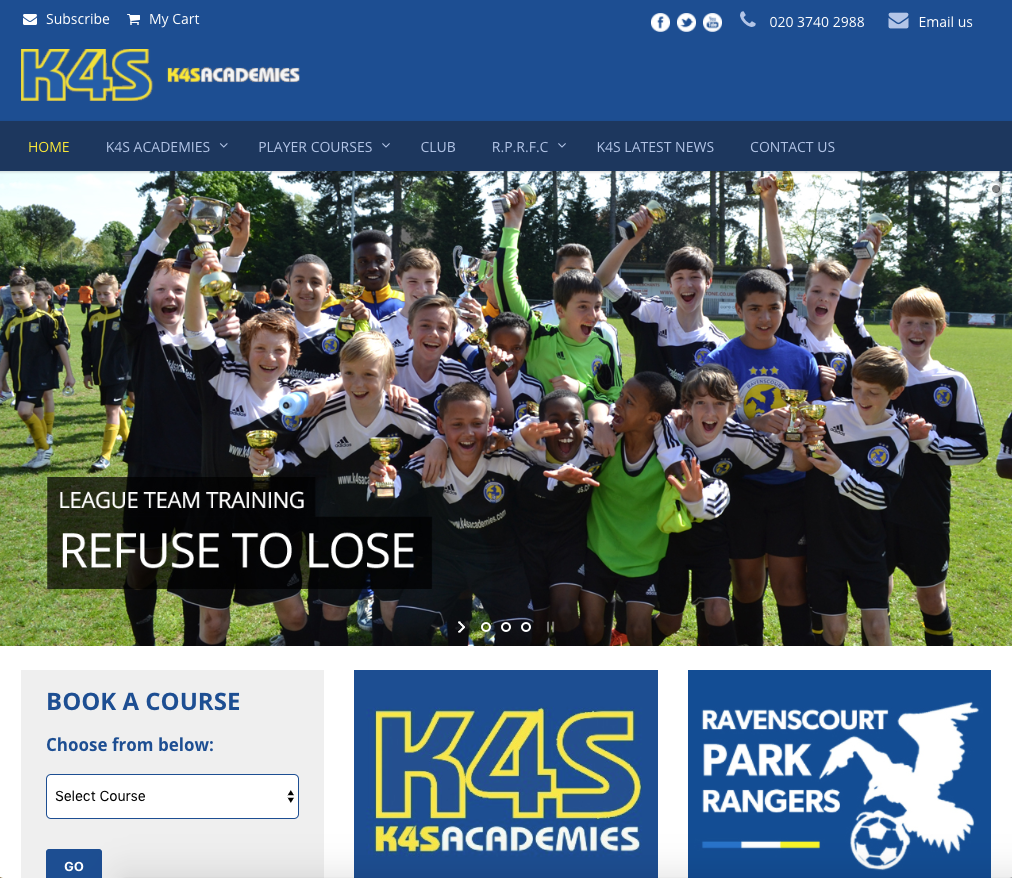 K4S Academies - Football Academy website bromley and croydon