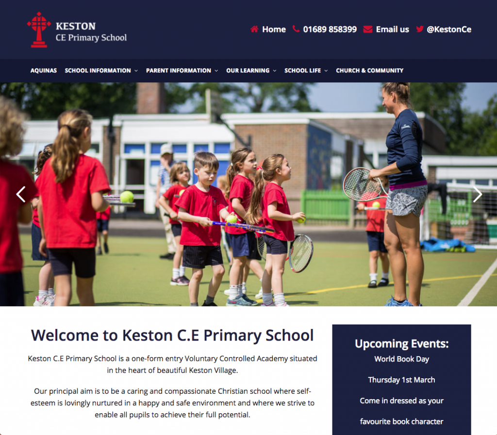 Keston C.E Primary School - School websites in bromley and croydon