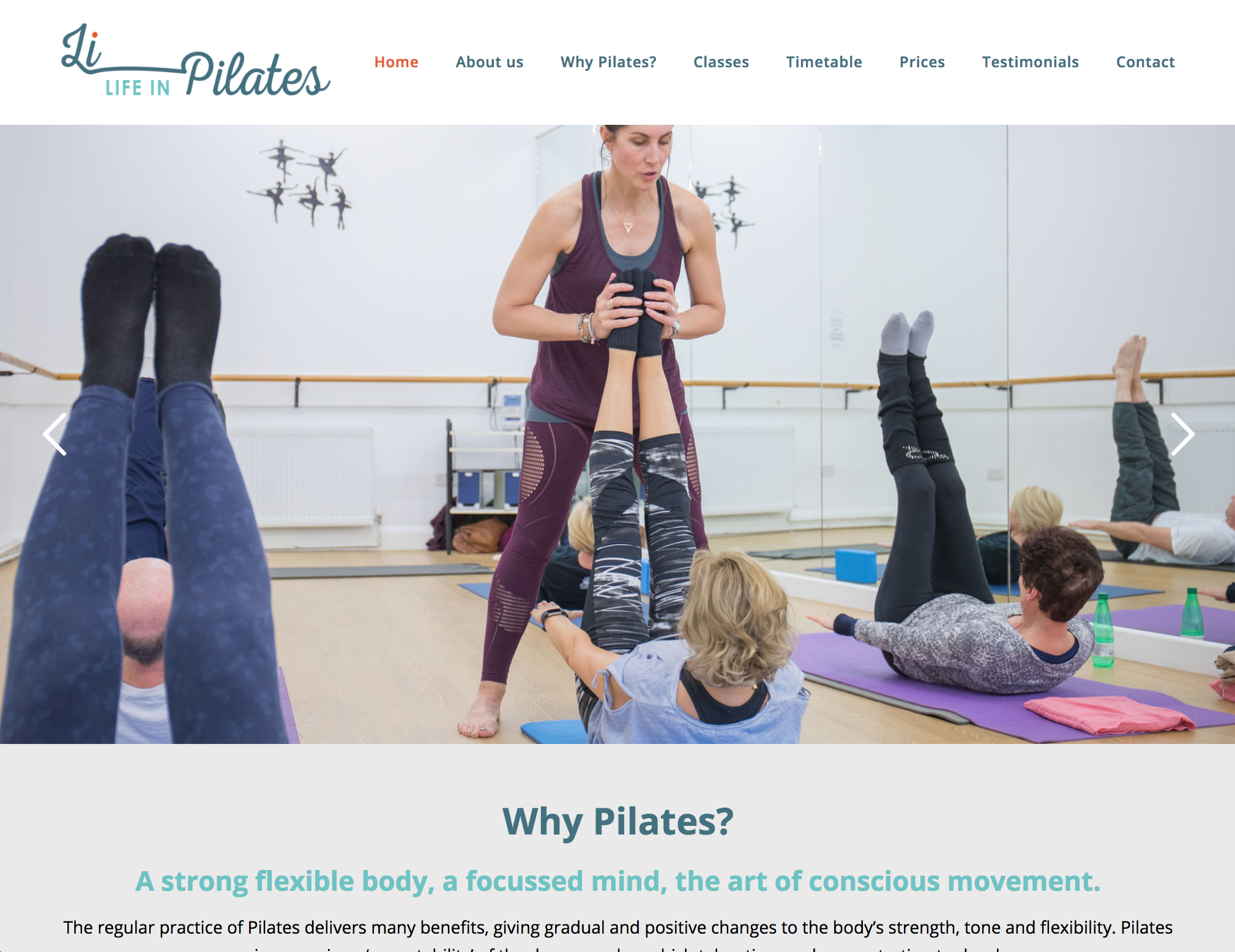 Life in Pilates - pilates websites in bromley and croydon