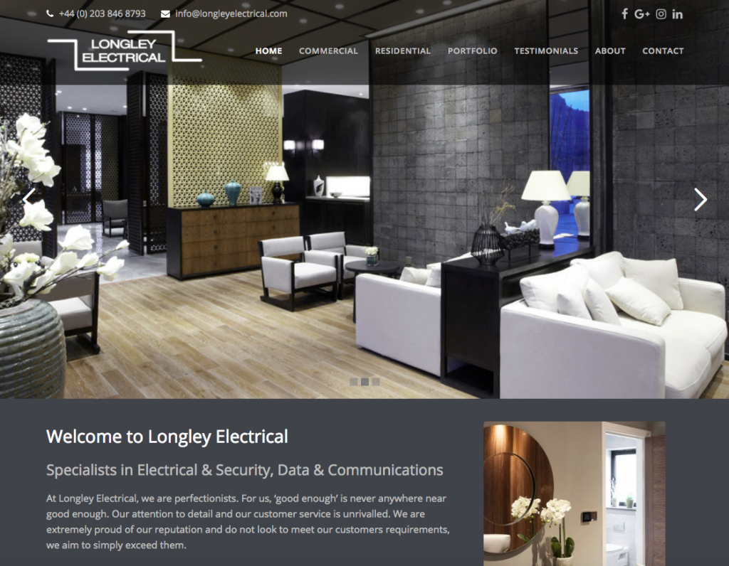 Longley Electrical - Electrical websites in bromley and croydon