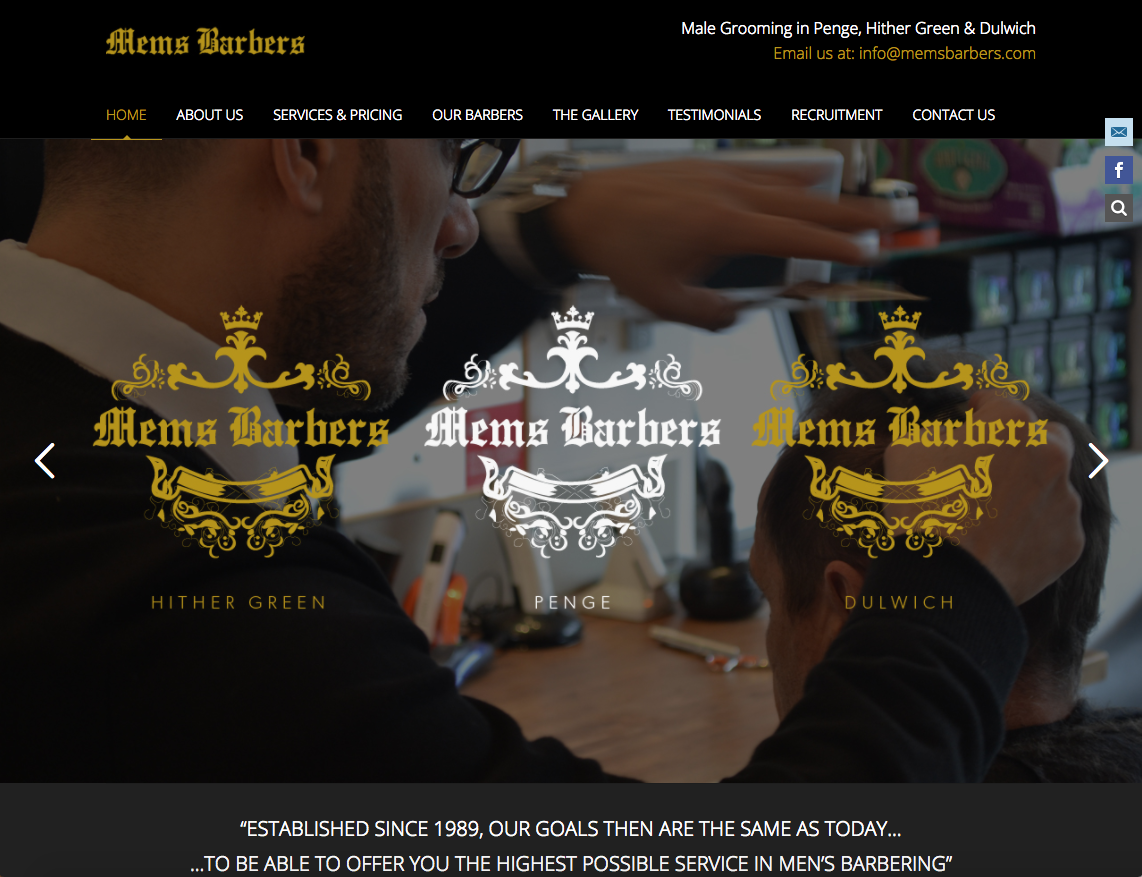 Mems Barbers - Barber website bromley and croydon