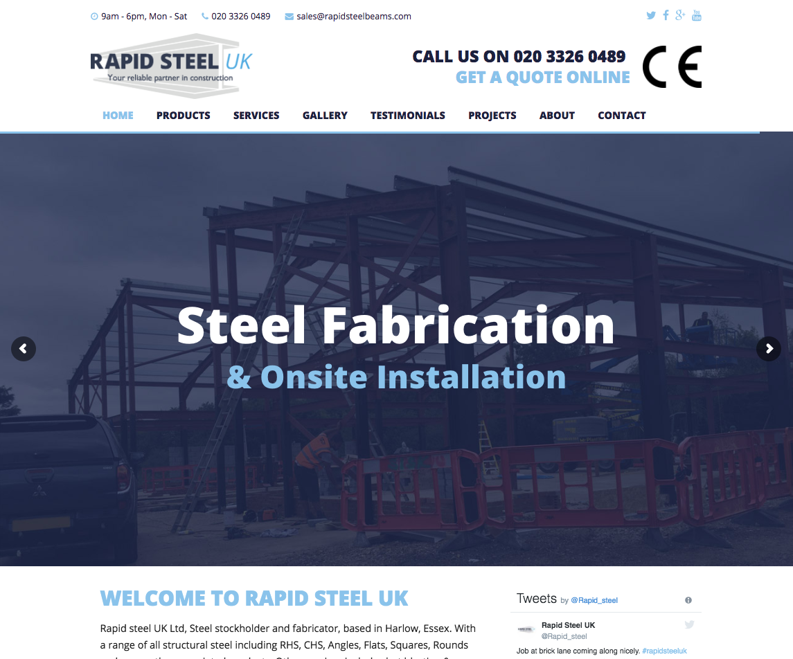 Rapid Steel Beams - Steel websites in bromley and croydon