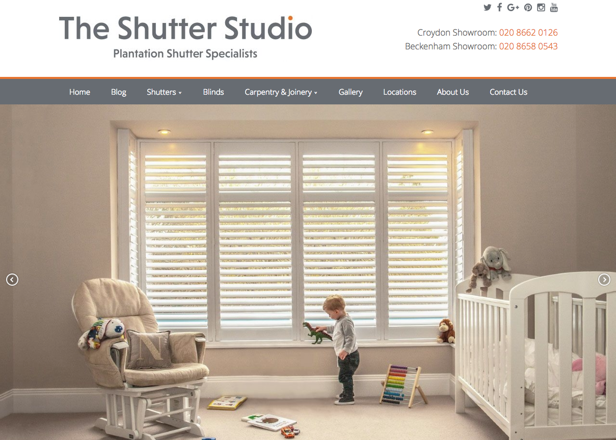 The Shutter Studio - Shutter websites in bromley and croydon