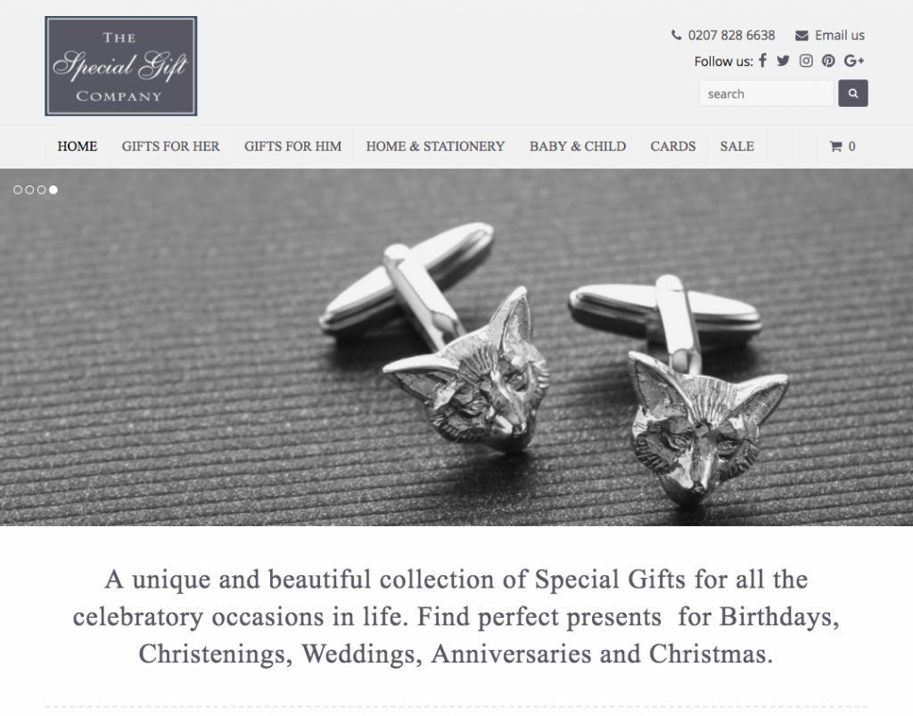 The Special Gift Company - Product websites in bromley and croydon