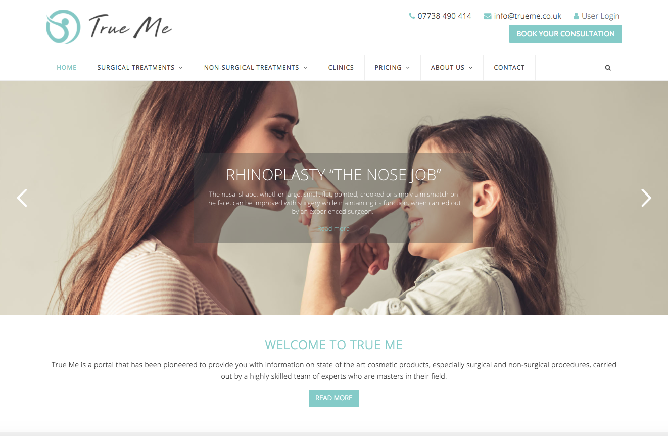 TrueMe - medical websites in bromley and croydon